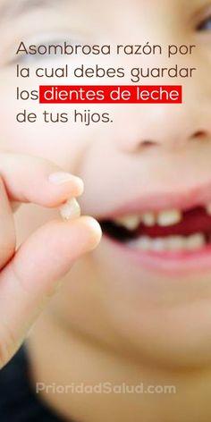 Los médicos te recomiendan guardar los dientes de leche de tus hijos por estas razones.