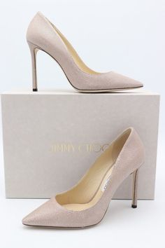04f7ec57271e Details about Jimmy Choo Romy Glitter Pump Metallic Light Ballet Pink Size  38.5  675
