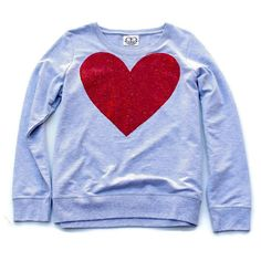 Sequin Heart Sweatshirt Valentines Day Shirt Heart Shirt Heather Gray... ($38) ❤ liked on Polyvore featuring tops, hoodies, sweatshirts, silver, women's clothing, heather grey shirt, sequin sweatshirt, sequin top, checked shirt and bridal shirts