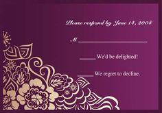 Magnificent Charming Wedding Invitation IWI154