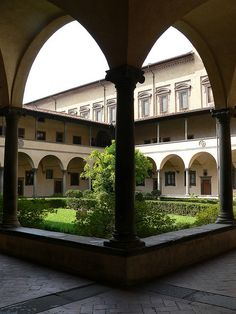 FIRENZE - SAN LORENZO - CHIOSTRO by bardazzi luca, via Flickr