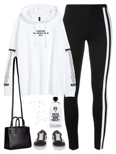 """w a t e r i s b e t t e r ♡"" by anothering ❤ liked on Polyvore featuring Y-3, Yves Saint Laurent, Vans, Aquaovo, JustinBieber and blackandwhite"