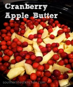 Cranberry Apple Butter -100 Days of Summer Slow Cooker Recipes..Substitute with stevia..Make for Christmas gifts
