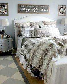 45 cool modern farmhouse bedroom decor ideas