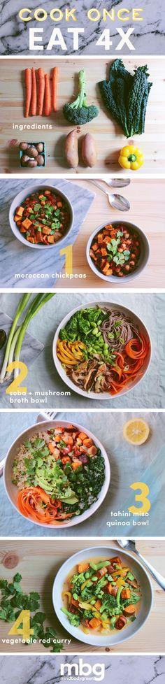 Cook Once, Eat All Week: Moroccan Chickpeas, Soba Noodles + More - mindbodygreen.com