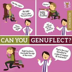 Do you know how to genuflect?