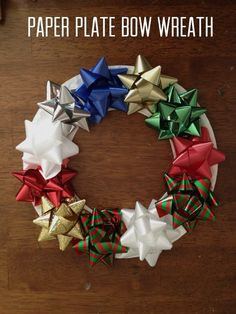 These paper plate bow wreaths are a simple holiday craft children of all ages will enjoy making