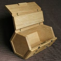 #handmade oak box with handmade sycamore and bog oak inlay. #woodenfurniture…