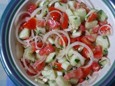 cucumber tomatoes onion salad | Tomato, Cucumber, and Onion Salad | The Critics In My Kitchen