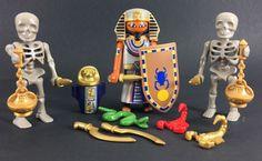 playmobil 3 Egyptian Figures History Pyramid New Rare Soldier Lot Skeleton 5386 #PLAYMOBIL