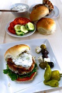 Greek Feta Turkey Burger