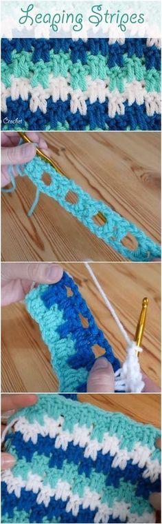 Learn To Crochet Leaping Stripes Blanket