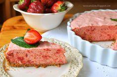 Ciasto z musem rabarbarowo-truskawkowym