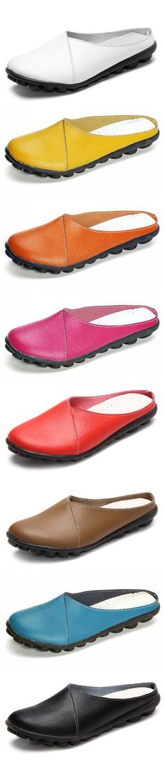 Big Size Pure Color Soft Sole Casual Open Heel Lazy Flat Shoes is cheap and comfortable. There are other cheap women flats and loafers online.