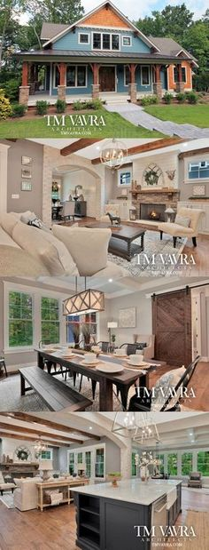 Too big, but style inspiration!!! The Savannah home plan puts a modern spin on craftsman style design. It features 3,518 sq ft with a first floor master suite, large master bath and walk-in closet. With its own full bath, the study can also be used as a guest room or 4th bedroom.