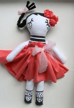 Rag Doll Cloth Doll Fabric Doll Handmade Doll Made by Fililishop
