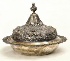696: Indo-Persian Silver Rose Water Bottle, late 19th/e : Lot 696