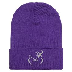 Deer Love Embroidered Knit Cap