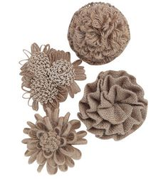 Jute Flower Magnet for Lamps or Magnetic boards – Dorm-Decor Dress up a lamp or add these to your magnetic display board.   www.dorm-decor.com