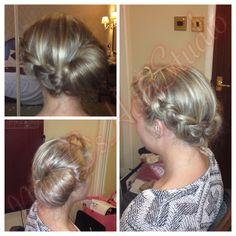 Bridal hair #2 for Carly's wedding 2014