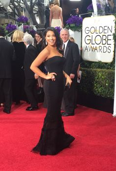 Winner, Gina Rodriguez at the 72nd Annual Golden Globe Award Show