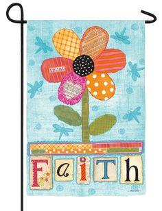 IAmEricas Flags - Faith Flower Suede Reflections Garden Flag, $14.00 (http://www.iamericasflags.com/products/faith-flower-suede-reflections-garden-flag.html)