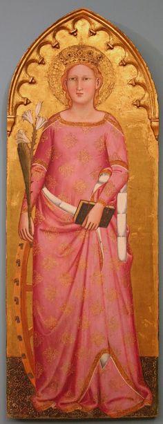 Pietro Nelli - Caterina d' Alessandria - circa 1365 - tempera e oro su tavola - Bonnefantenmuseum,  Maastricht