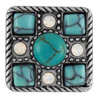 Southwest Style Turquoise Snap