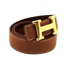 HERMES ,ceinture Constance en cuir box gold