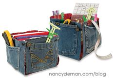 10-20-30+Minutes+to+Recycle+Jeans,+Nancy+Zieman,+Sewing+WIth+Nancy,+How+to+recycle+jeans