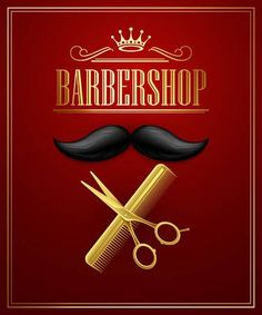 Illustration of Poster Barbershop welcome. Vector Illustration vector art, clipart and stock vectors. Barber Poster, Barber Sign, Barber Shop Interior, Barber Shop Decor, Barber Haircuts, Barbershop Design, Logo Gallery, Banner Printing, Art Clipart