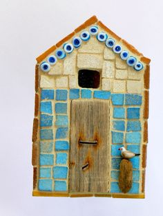 Blue Beads Beach Hut Mosaic By Rana Cullimore www.ranacullimore.co.uk
