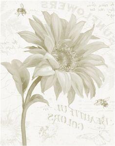 transfer... sunflower & bee