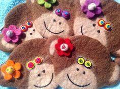 Felted wool monkey bag by showmealittlesign on Etsy Leather Fringe, White Leather, Monkey Bag, Wool Felt, Felted Wool, Fringe Purse, Micro Macrame, Origami Owl, Seed Beads