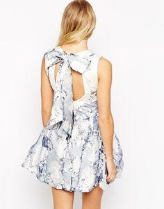 Hedonia Flo Organza Overlay Prom Dress