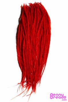 "Red 24"" U-Tip Synthetic Dreadlocks (10 pieces) - 100% Kanekalon. – Penny Dreads & Wigs"