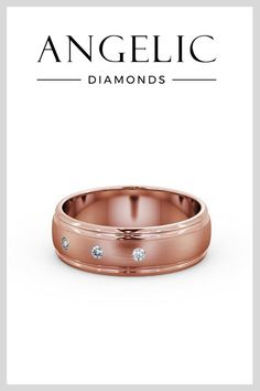 Men's wedding bands can be beautiful, too. This men's wedding ring with diamonds comes in stunning rose gold. #weddingrings #weddingbands Elegant Wedding Rings, Diamond Wedding Rings, Wedding Bands, Beautiful Diamond Rings, Perfect Christmas Gifts, Wedding Planning Tips, Diamond Jewellery, Cartier Love Bracelet, Eternity Ring
