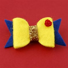 Beauty & the Beast inspired felt hair bow by Spiffing Jewelry - Limited run of 6!
