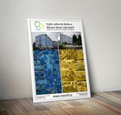 Jednoduchý návrh plakátu o formátu A1. Jedná se o plakát nabídky oborů VOŠ a SŠ ve Varnsdorfu