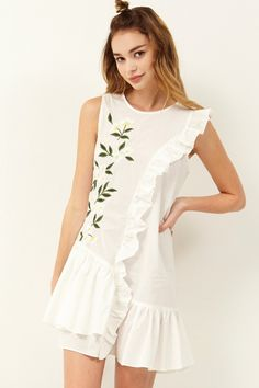 Barbara Flower Embroidery Dress Discover the latest fashion trends online at storets.com