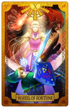 Wheel of Fortune - Legend of Zelda. Oh my god!! A Legend of Zelda tarot card!!!
