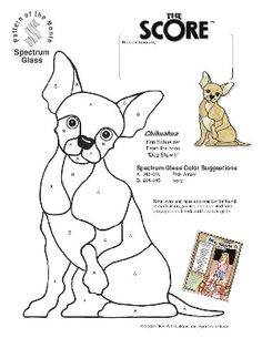 Free Stained Glass Pattern 2272-Chihuahua