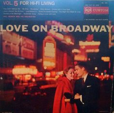 Romantic 50s LP Free Shipping Love on Broadway Vintage