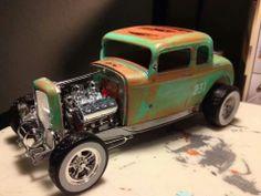 Nice patina on a 32 Ford 3 window