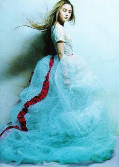 "midnight-charm:  ""Haute Couture"" Devon Aoki byPatrick Demarchelier for Harper's Bazaar US April 1999"