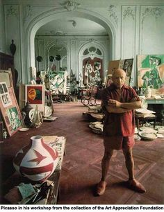 Picasso in his workshop