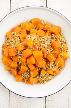 Roasted Spiced Pumpkin with Toasted Buckwheat