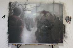 Dreamer disease spray on canvas 200 x 150