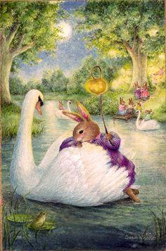 Holly Pond Hill collection by Susan Wheeler Susan Wheeler, Lapin Art, Motifs Animal, Bunny Art, Woodland Creatures, Whimsical Art, Cute Illustration, Cute Art, Illustrators
