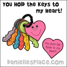 You Hold the Keys to My Heart Father's Day Craft from www.daniellesplace.com